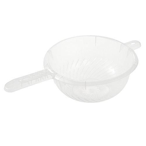 keeeper Küchensieb mit Stiel, BPA-freier Kunststoff, Ø 24 x 11 cm, Fabio, Transparent