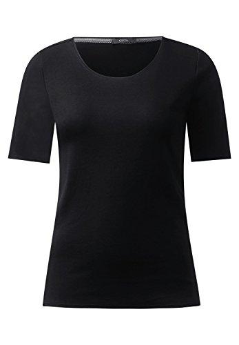 Cecil Damen Lena T-Shirt, Schwarz (Black 10001), M