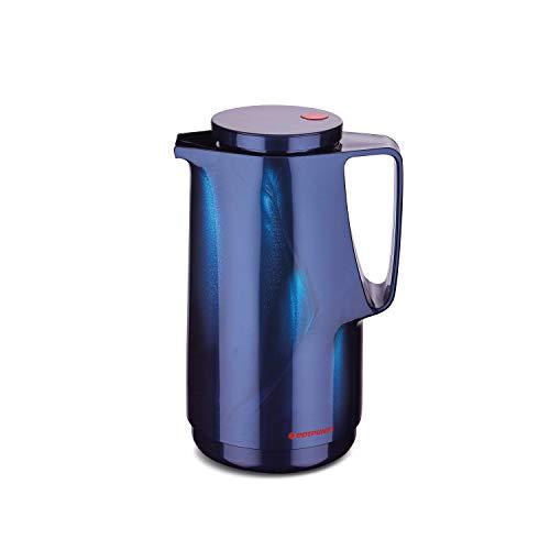 ROTPUNKT Isolierkanne 760 Maxima 1,0 l   Zweifunktions-Drehverschluss   BPA-frei - gesundes Trinken   Made in Germany   Warm + Kalthaltung   Glaseinsatz (midnightblue)