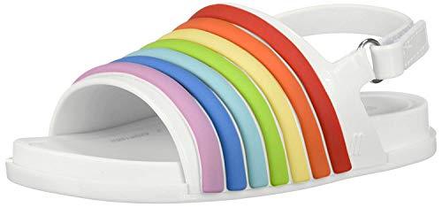 Mini Melissa Baby Girl's Mini Beach Slide Sandal Rainbow (Toddler/Little Kid) White Colorful 10 M US Toddler M