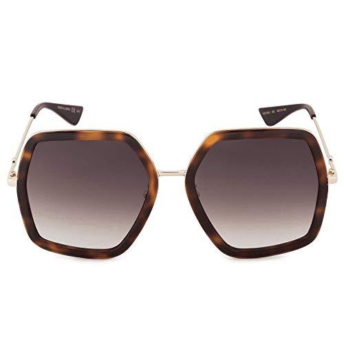 Gucci GG0106S gafas de sol w/Gradient lente Brown 56mm 002 GG0106 / S GG 0106 / S GG 0106S mujer la Habana Grande
