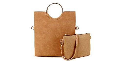InStyle Bags - Bolso de asas de Material Sintético para mujer, color Rosa, talla talla única