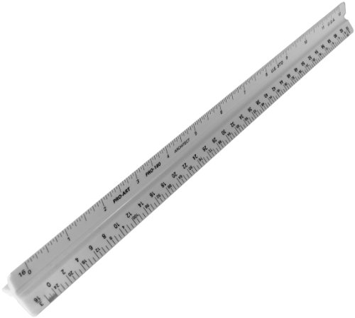 PRO ART 180 12-Inch Architectural Triangular Scale