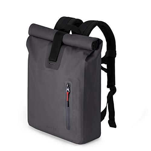 """A-LAB • Model A • Small • Wasserdichter Fahrradrucksack • Messenger Backpack • Kurierrucksack aus robuster LKW Plane (17l) mit extra Hülle für 15"""" Laptop • Tagesrucksack in schwarz"""
