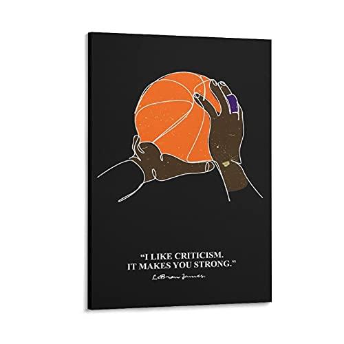xiangshui James - Póster de baloncesto y lienzo para pared (40 x 60 cm)