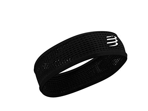 COMPRESSPORT Thin Headband On/off, Corsa Unisex-Adult, Nero, Uniq Size