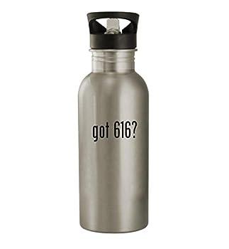 got 616? - 20oz Stainless Steel Water Bottle Silver