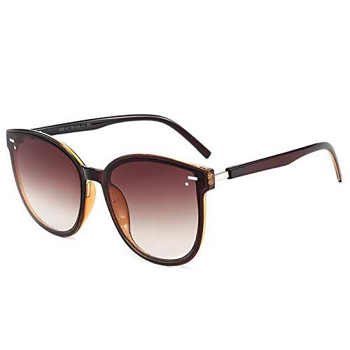 Gafas de Sol Sunglasses Moda Cool Round Style Gradient Gafas De Sol Hombres/Momen Design Driving Cheap Vintage Sun Glasses No4