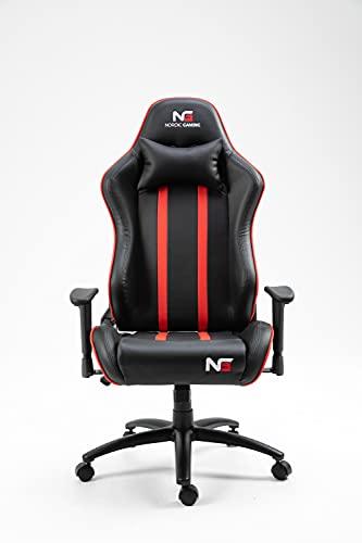 PKline Nordic Gaming Carbon Gamin Stuhl schwarz, rot PC Bürostuhl Zockerstuhl Sessel Chefsessel