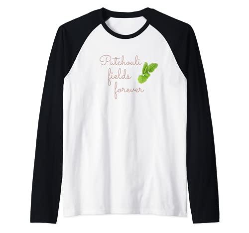 Aceite esencial de pachulí Aromaterapia Camiseta Manga Raglan