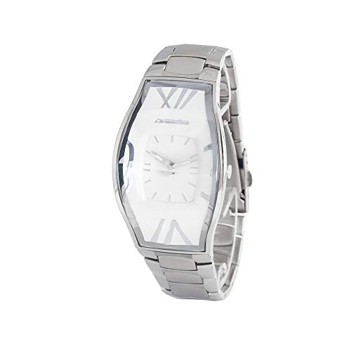 Chronotech Herren Analog Quarz Uhr mit Edelstahl Armband CT.7932M/08M