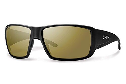 Smith Optics Adult Guides Choice Lifestyle Polarized Sunglasses/Eyewear, Matte Black/Bronze Mirror, Large