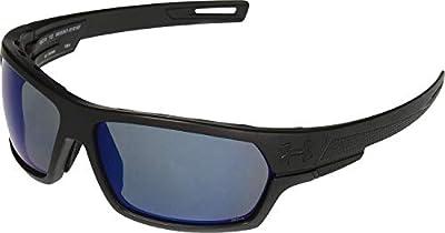 Under Armour Battlewrap Sunglasses Oval, SATIN BLACK/UA TUNED OFFSHORE POLARIZED ANSI, 68 mm
