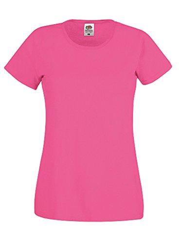 Fruit of the Loom - Camiseta de manga corta para mujer Rosa