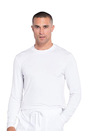 Workwear Professionals Men Underscrubs Knit Top WW700, L, White