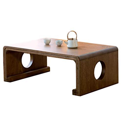 Tatami Couchtisch Japanischer Erker-Tisch Einfacher Antiker Kleiner Teetisch Chinesischer Guoxue-Tisch (Color : Walnut, Size : 80 * 50 * 30cm)