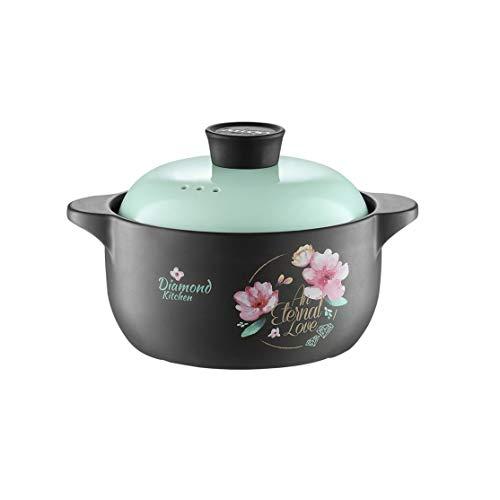 CJTMY Casserole Suppentopf Haushaltsgaskeramiktopf Suppe Eintopf Flamme Claypot Reis-Auflauf Hohe Temperaturbeständigkeit