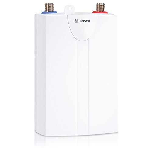 Bosch hydraulischer Kleindurchlauferhitzer Tronic 1000 5 T, untertisch Durchlauferhitzer mit Festanschluss, robust für alle Wasserhärten, Energieklasse A, 4,6 kW