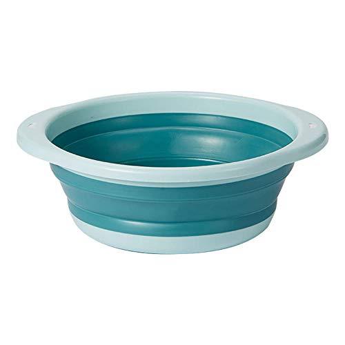 Alberta 35x12cm Folding Kinder Waschbecken Fest Farbe tragbare Reise Kleines Studentenwohnheim Tub Startseite Wäscherei Baby-Waschbecken-Blau (Color : Blue)