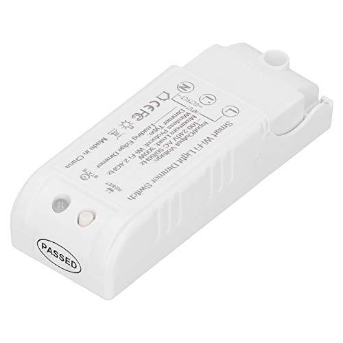 Interruptor atenuador Inteligente, Interruptor atenuador de luz WiFi, hogar de 4.3X1.6X1.1 Pulgadas para Equipo eléctrico Asistente Alexa
