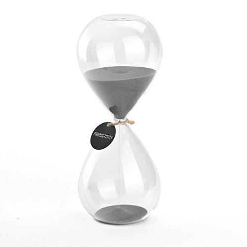 Hourglass Sand Timers - SWISSELITE Biloba Hourglass Sand Timer, 8.1 Inch...