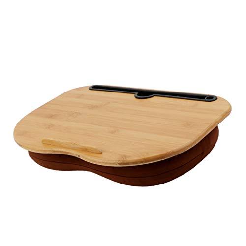 YONGYONGCHONG Draagbare Bamboe Laptop Tafel Kussen Lap Bureau Boekenplank Tablet Stand Handige Leren Bureau Houder Voor Bed Notebook Outdoor(38 * 28 * 13cm) Luie tafel