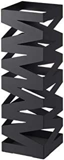 """Rock"" Black Metal Modern Umbrella Stand, Accommodates up to 6 Umbrellas , 48cm H"