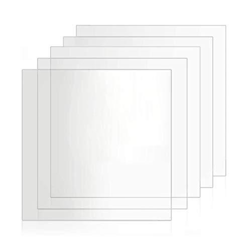 TEHAUX - Hojas transparentes de plástico de poliestireno transparente de plástico con placa de acrílico transparente para cartel/marco/corte.