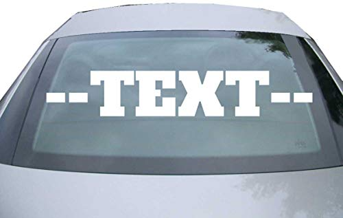 INDIGOS UG® Aufkleber mit Wunschtext für die Heckscheibe - Auto Domain Beschriftung Schriftzug Cartattoo - bis 160 cm - Name Schriftzug Namensaufkleber Sticker selbst gestalten Autoaufkleber