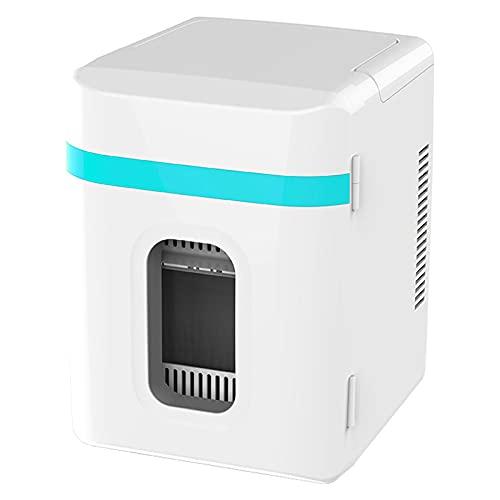 AIISHY 10L Mini Refrigerador de Coche, Mini portátil para el Cuidado de la Piel Cosméticos Alimentos Fruta Dormitorio Cuidado de la Piel Refrigerador pequeño, para Oficina en casa,Azul