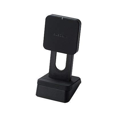 エレコムQi規格対応ワイヤレス充電器/5W/コイル可動式/スタンドタイプ/ブラックW-QS03BK
