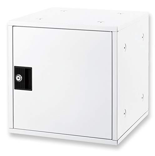 アスカ ミニロッカー 組立式ボックス シューズ対応 スタッキング可 下駄箱 SB800W ホワイト 350×350×350mm