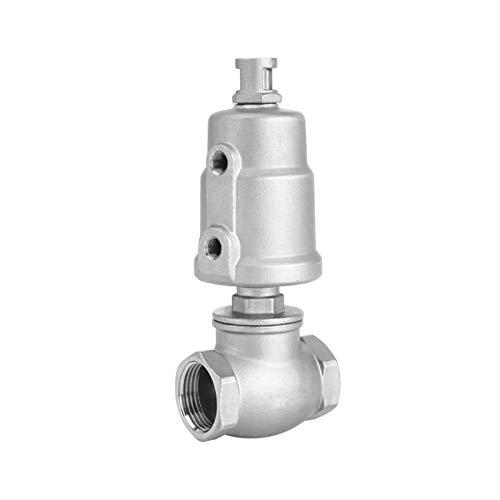 Válvula de ángulo de asiento de rosca hembra de vapor neumático de acero inoxidable 304 de Plástico Head Head T de tipo Agua válvula de cierre de la válvula de tambor secador