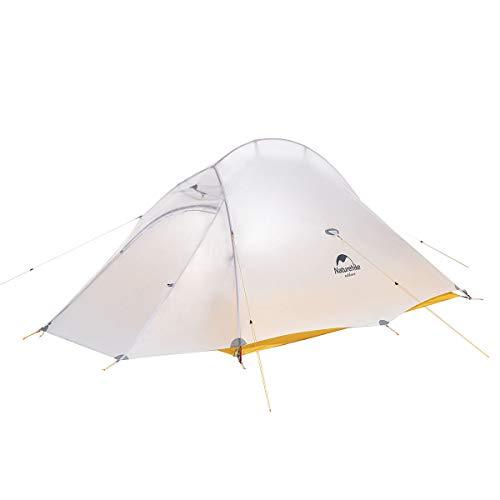 Naturehike Tienda de campaña Mejorar Cloud Up 2 Persona Tienda de Trekking Ultraligero Impermeable … (10D Amarillo)