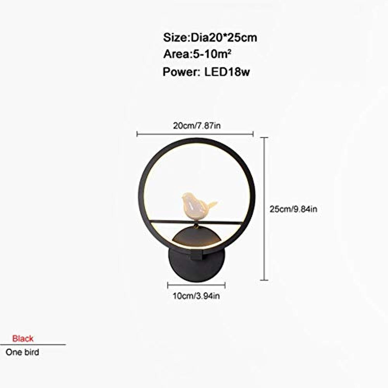 ZXINHome LED Moderne Wandleuchte Schlafzimmer Neben Einem Vogel Innenwand Wohnzimmer Esszimmer Beleuchtung Dekoration schwarz cool Weiß