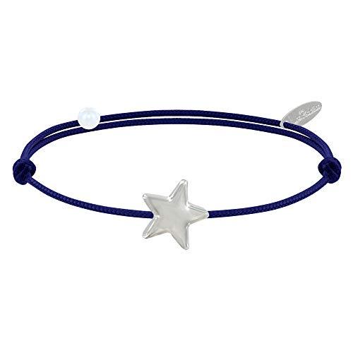 Joyas Les Poulettes - Pulsera Enlace Estrella de Plata - Classics - Azul Marino