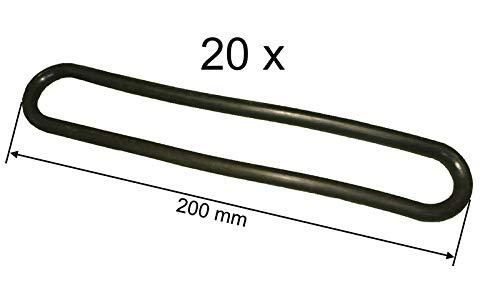 FKAnhängerteile 20 x Gummi Spannring - Abspannring 200 mm lang - Ø 8 mm
