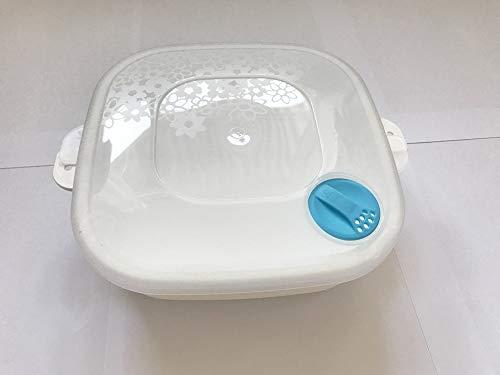 Chriluka Mikrowellenteller Kasserolle Mikrowellengeschirr m Dampfventil Deckel für Mikrowelle 1 Liter quadratisch Erhitzen Einfrieren