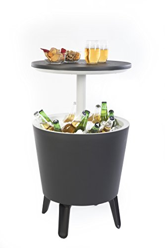 KETER 7.5 Gallon Cool Bar Modern Beverage Cooler Table Black