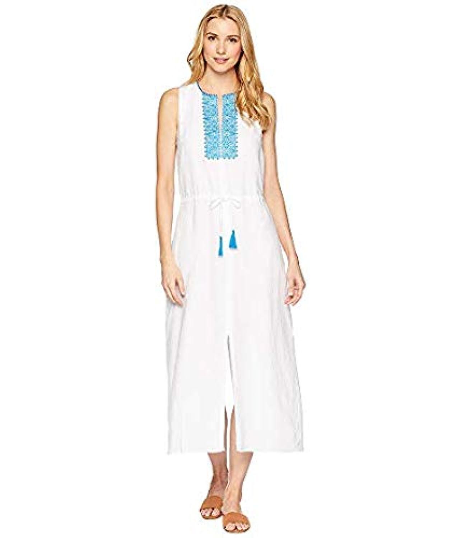 [LAUREN Ralph Lauren(ローレンラルフローレン)] レディースウェア?ジャケット等 Embroidered Linen Maxi Dress White US 10 (XL) [並行輸入品]