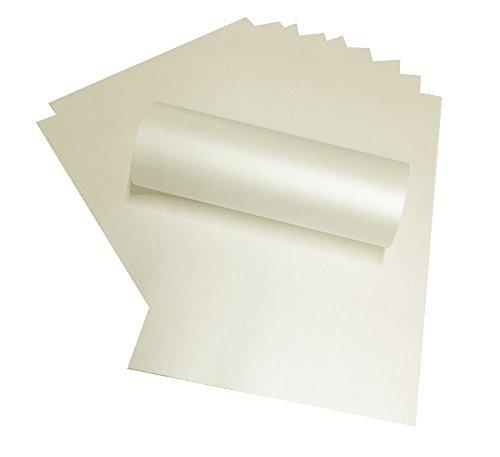 Perlglanz-Papier von Syntego, elfenbeinfarben, A4, doppelseitig, 120g/m², geeignet für Tintenstrahl- und Laser-Drucker, 20 Stück