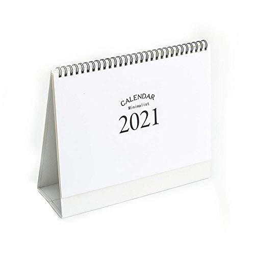 Calendario de escritorio 2021 para escritorio, escritorio, con espiral, calendario, escritorio, bloc de notas grande