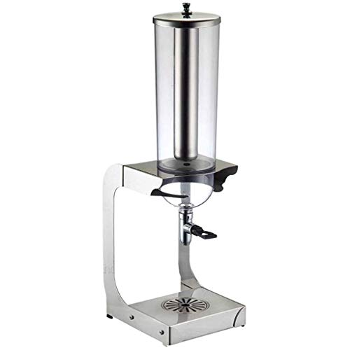 STRAW Bebidas Machin, Caliente fría dispensador de la Bebida de la máquina de té Bebida del Jugo de la máquina de Bebidas Compartimiento for Hotel Inicio Uso Comercial (Plata) (Size : 4L)