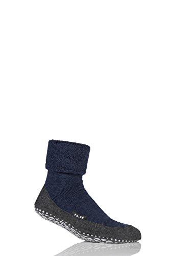 FALKE Herren 1 Paar Cosyshoe Schurwolle Startseite Socken Navy 43-44