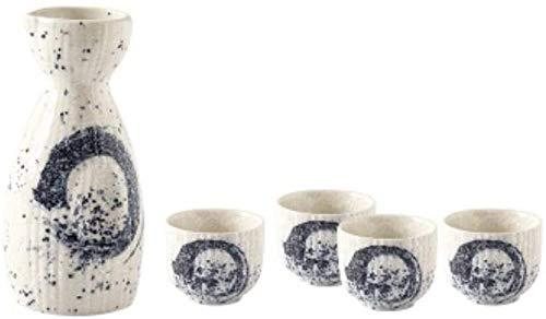 ZHEYANG Botella de Sake de cerámica Pintada a Mano de Estilo japonés, Jarra, Vino, Vino Blanco, Botella de Vino para el hogar, Botella de Flores