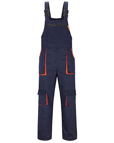 Jkroling Herren Arbeitshose Berufsbekleidung Sicherheitshose Latzhose Hose Arbeitsschutzbekleidung (XX-Large, Navy blau)