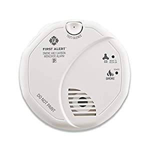 First Alert SCO5CN Combination Smoke and Carbon Monoxide Detector, Battery Operated , White