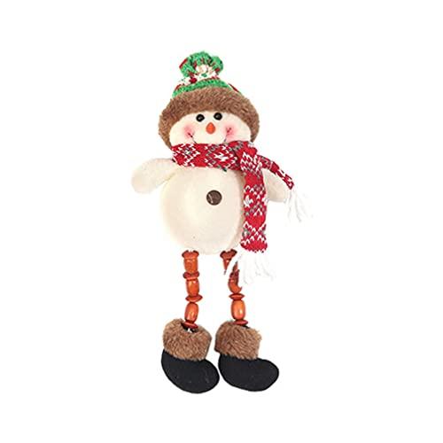 STOBOK Bonecos de Pelúcia de Natal Com Luzes LED Sentado Papai Noel Boneco Rena Mesa Lareira Prateleira Decoração Figurinhas para O Presente de Natal Do Feriado Decoração Da Sua Casa