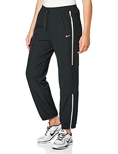 Nike DA0522-010 W NP CLN Pant Woven SP Pants Womens Black/(metallic Silver) L