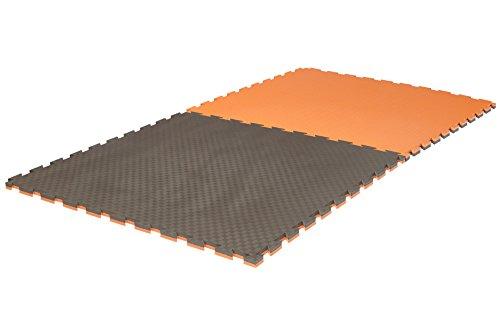 Ju-Sports Puzzlematte Pro Checker 2 cm grau/orange Wendematte